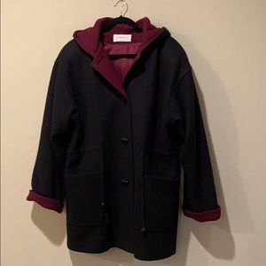 Vintage J. Hilary hooded 100% wool coat! (Lined)